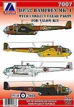 7007 HANDLEY PAGE HP.52 HAMPDEN MK.I with clear parts for VALOM kit