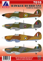 7016 HAWKER HURRICANE NATIONAL MARKINGS