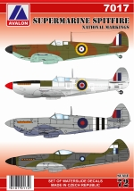 7017 SUPERMARINE SPITFIRE NATIONAL MARKINGS